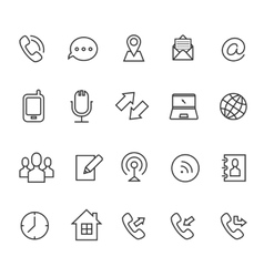 Communication line icons for business card vector