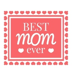 Best mom card icon cartoon style vector image