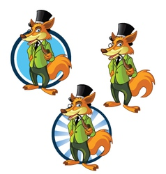Gentleman fox vector