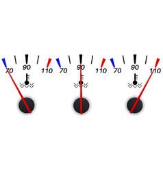 temperature gauge scale vector image
