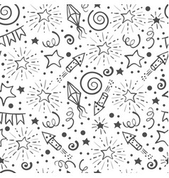 Festive seamless pattern vector