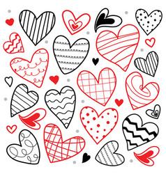sweetheart i love you valentine heart cute cartoon vector image