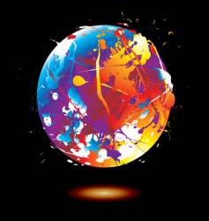 Paint splat globe vector