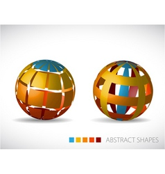 abstract spheres vector image