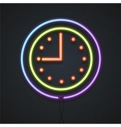 Neon Clock vector image
