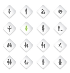 Family simply icons vector