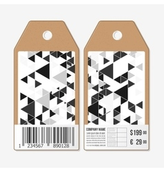 Tags design cardboard sale labels with barcode vector