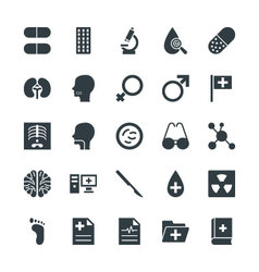 Medical and health cool icons 4 vector