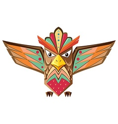 Totem pole shaped of an owl vector
