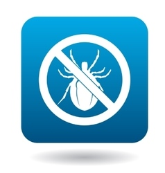 No bug sign icon simple style vector