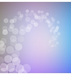 Abstract bokeh sparkles swirl on blurred vector image