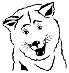 akita inu vector image vector image