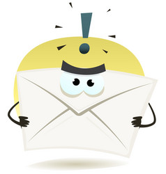 Angry email icon vector