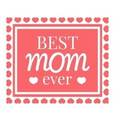 Best mom card icon cartoon style vector