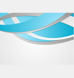 Blue corporate waves abstract background vector