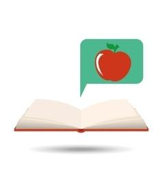 Book open apple concept school graphic vector