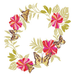 butterfly design for clothing embroidery insect vector image vector image