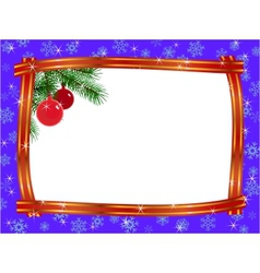 christmas ribbon frame vector image