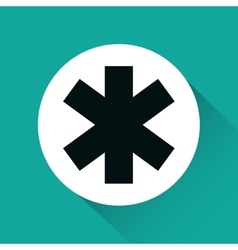 Cross medical symbol isolated icon vector