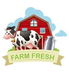 farm fresh with text vector image vector image