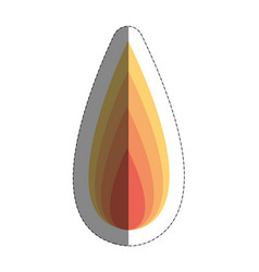 Fire flame icon over whit vector