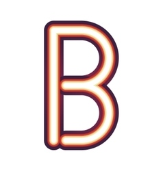 Glowing neon letter b vector