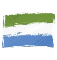 grunge Sierra Leone flag vector image vector image