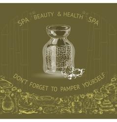 Hand drawn spa accessories vector