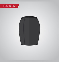 isolated skirt flat icon stylish apparel vector image