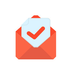 Mail symbol envelope icon success envelope vector