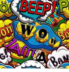 Multicolored comics speech bubbles vector image vector image