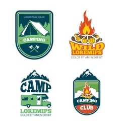 Outdoor adventure camp hiking camping vector image vector image