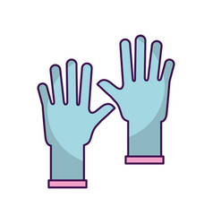 rubber gloves isolated icon vector image