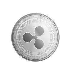 Silver ethereum coin symbol vector