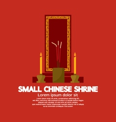 Small chinese shrine vector