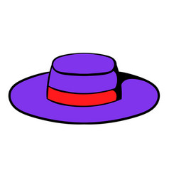 Sombrero hat icon cartoon vector