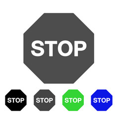 stop sign flat icon vector image vector image