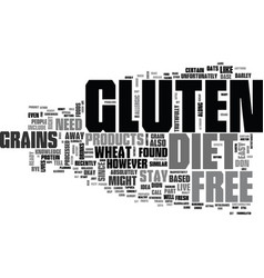 What should you know about gluten free diet text vector