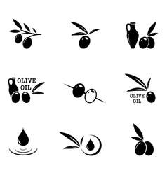 Olive icons set vector