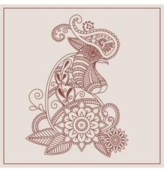 mehendi Henna rooster vector image