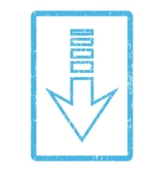 Send down icon rubber stamp vector