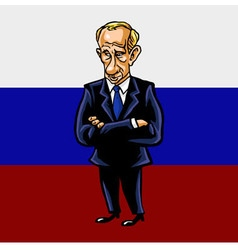 Russian president vladimir putin cartoon vector