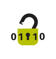 Lock icon security protection safety password sign vector