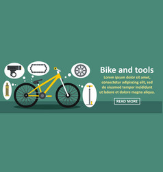 bike and tools banner horizontal concept vector image