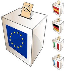 European urn symbol vector