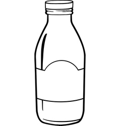 Milk bottle cartoon vector