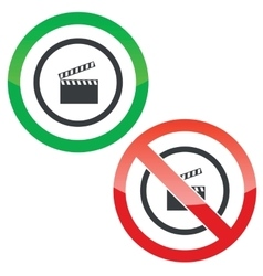 Video capture permission signs vector