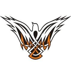 bird celtic icon vector image
