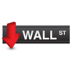 Stock market fall vector