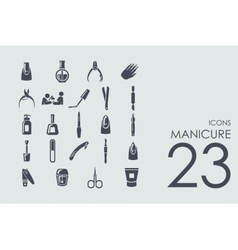 Set of manicure icons vector